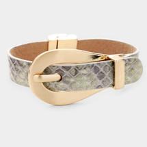Snakeskin Buckle Bracelet
