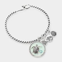 Turtle Charm Hook Bracelet
