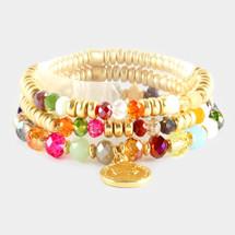 Angelica Coin Charm Bracelet Set/Stack