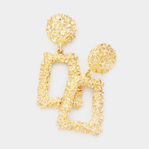 Trapezoid Door Knocker Earrings: Gold, Silver Or Rose