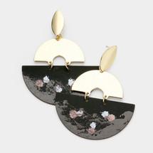 Paint Splatter Earrings - Black