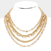All the Chains Pre-Layer Necklace: Gold Or Silver