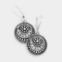 Antique Pattern Drop Earrings