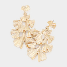 Leaf Cluster Antique Inspired Earrings: Gold Or Silver