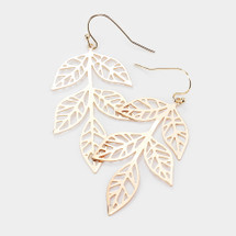 Cut Out Leaf Earrings: Gold Or Silver
