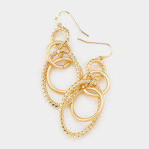 Oval Links Drop Earrings: Gold Or Silver