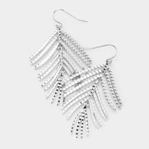 Textured Metal Leaf Earrings