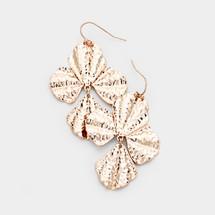 Rose Gold Petal Earrings