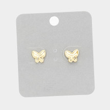 Tiny Butterfly Stud Earrings: Gold Or Silver