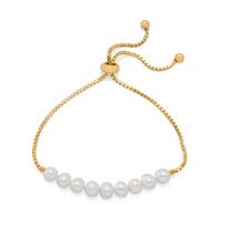 Cultured Freshwater Pearl Adjustable Bracelet *Sterling Silver*