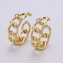 Gold Filled Link Earrings