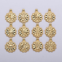 Gold Filled Reversible Zodiac Coin Necklace