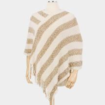 Caelynn Stripe Knit Poncho