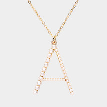 Pearl Monogram Initial Necklace: Gold Or Silver