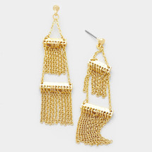 Double Layer Fringe Earrings: ONLY PAIR!