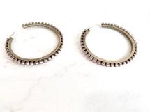 Silver/Pink Crystal Hoops: LAST PAIR!
