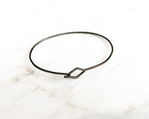 Gunmetal Wire Bracelet: ONLY ONE EVER!