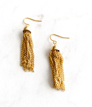 Little Gold Tassel Earrings: LAST PAIR!
