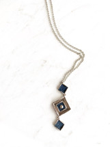 Long Denim Inlay Necklace: ONLY ONE EVER!