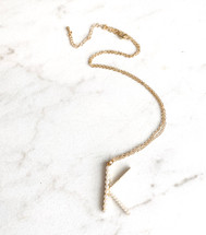 Letter K Pearled Necklace - LAST ONE!