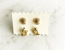 Beachy Stud Earring Set - ONLY ONE!