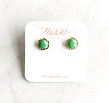 Minty Stud Earrings - ONLY PAIR!