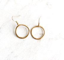 SOLD OUT! Little Hammered Drop Hoop Earrings: ONLY PAIR!