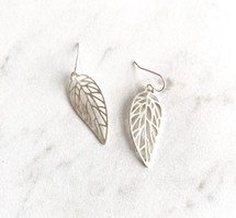 Delicate Silver Leaves Earrings: ONLY PAIR!