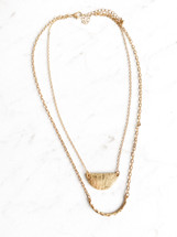 Layered Hammered Necklace - ONLY ONE!