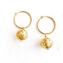 Filigree Ball Drop Earrings: LAST ONES!