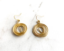 Swirled Drop Earrings: LAST ONES!