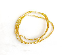 Sterling Silver Vermeil Beaded Bracelet Set - Gold: ONLY ONE!