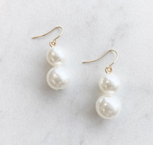 Double Pearl Drop Earrings: ONLY PAIR