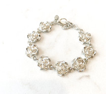 Rosettes Silver Bracelet - ONLY ONE!