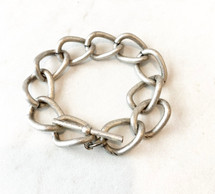 Chain Link Toggle Bracelet - Antique Silver: LAST ONE!