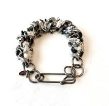 Linked Tweed Plaid  Bracelet - LAST ONE!
