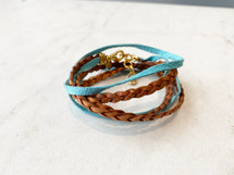 Leather/Suede Wrap Bracelet