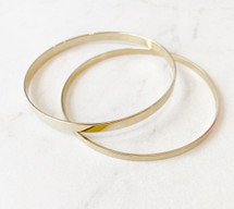 Two Gold Bangles Set - LAST ONE!