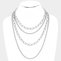 Metal Chain Ball Layered Necklace: ONLY ONE!