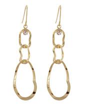Triple Wavy Drop Earrings: Gold Or Silver
