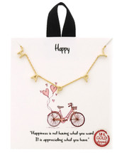HAPPY Necklace: Gold Or Silver