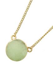Semi Precious Round Miny Stone Pendant Necklace