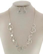 Disc Circles Necklace Set