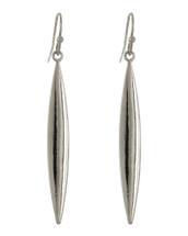 Classic Skinny Teardrop Earrings: Gold Or Silver