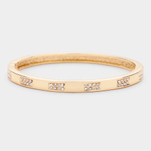 Classic Pave Hinged Bracelet: Gold, Silver Or Rose