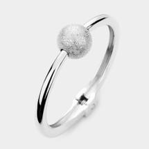 Metal Hinged Ball Bracelet: Gold Or Silver