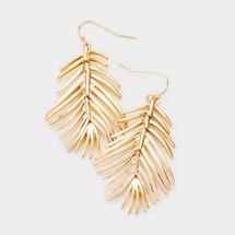 Leaf Earrings: Gold Or Silver
