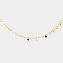 Discs Delicate Necklace: Gold OR Silver