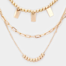 Gold Goddess Layered Necklace