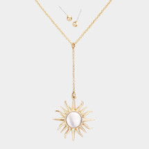 Metal Sun Necklace: Gold Or Silver